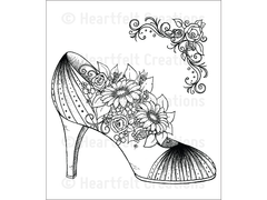 Heartfelt Creations All Glammed  Up Shoe Cling Stamp