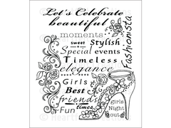 Heartfelt Creations Fashionista Cling Stamp