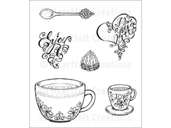 Heartfelt Creations Coffee Talk Cling Stamp
