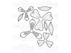 Heartfelt Creations Sunrise Lily Cling Stamp