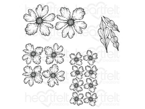Heartfelt Creations Small Sweet Peony Cling Stamp and Die