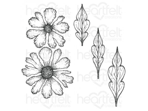 Copy of Heartfelt Creations Large Sweet Peony Cling Stamp and Die