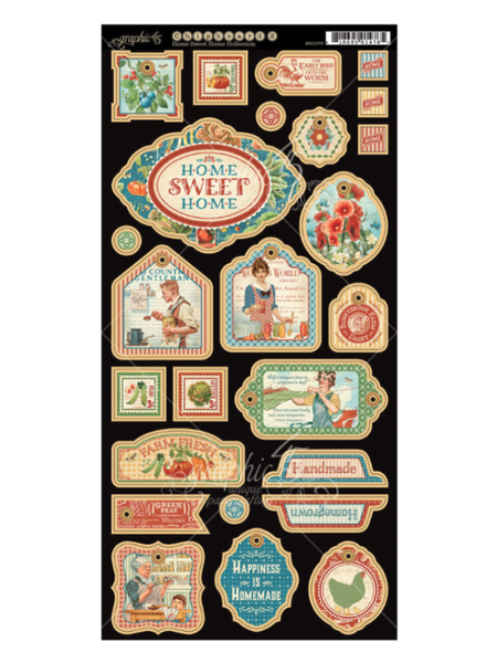 Graphic 45 Home Sweet Home Collection Chipboard # 2