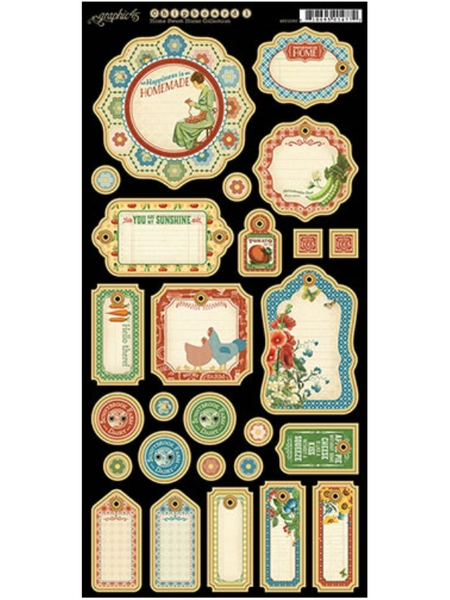 Graphic 45 Home Sweet Home Collection Chipboard #