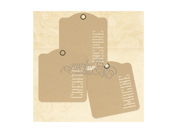 Graphic 45 Inspire Create Image Kraft Tags
