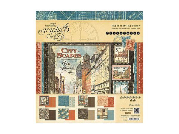 Graphic 45 Cityscapes 12 x 12 Paper Pad