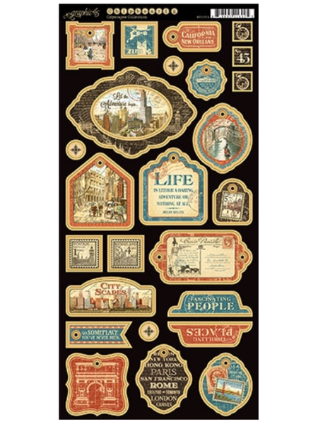 Graphic 45 Cityscapes Collection Chipboard #2