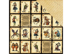 Graphic 45 Halloween in Wonderland Collection 12 x 12 Cardstock