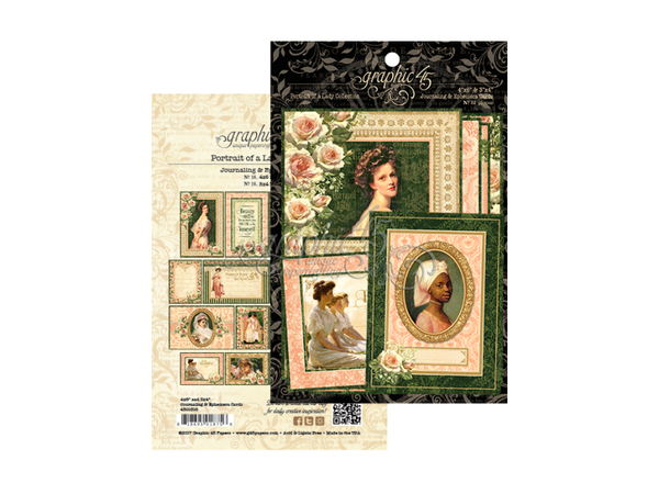 Graphic 45 Portrait of a Lady Collection Journaling and Ephemera Cards
