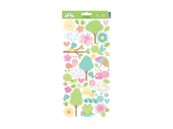 Doodlebug Designs Spring Things Collection Sticker Icon Sheets