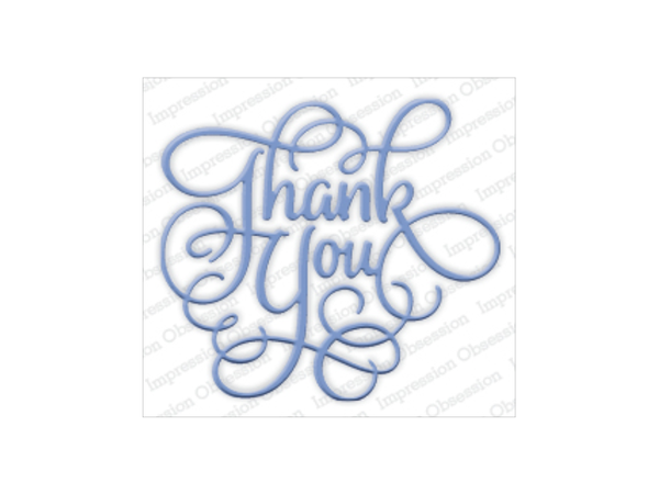 "Impression Obsession "" Thank You"" Die Set"