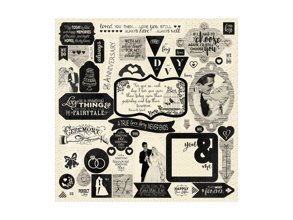 Authentique Always Collection 12 x 12 Sticker Sheet