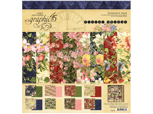 Graphic 45 Floral Shoppe Collection 12X12 Cardstock
