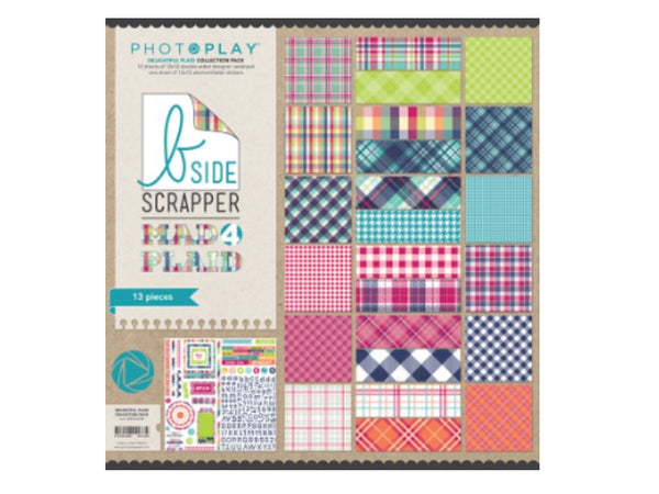 Photo Play Mad 4 Plaid Delightful Collection  12 x 12 Card Stock