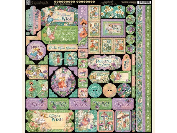 Graphic 45 Fairie Dust Collection 12 x 12 Sticker Sheet