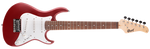 CORT E-Gitarre, G100 Junior, Open Pore Black Cherry