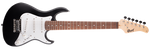 CORT E-Gitarre, G100 Junior, Open Pore Black