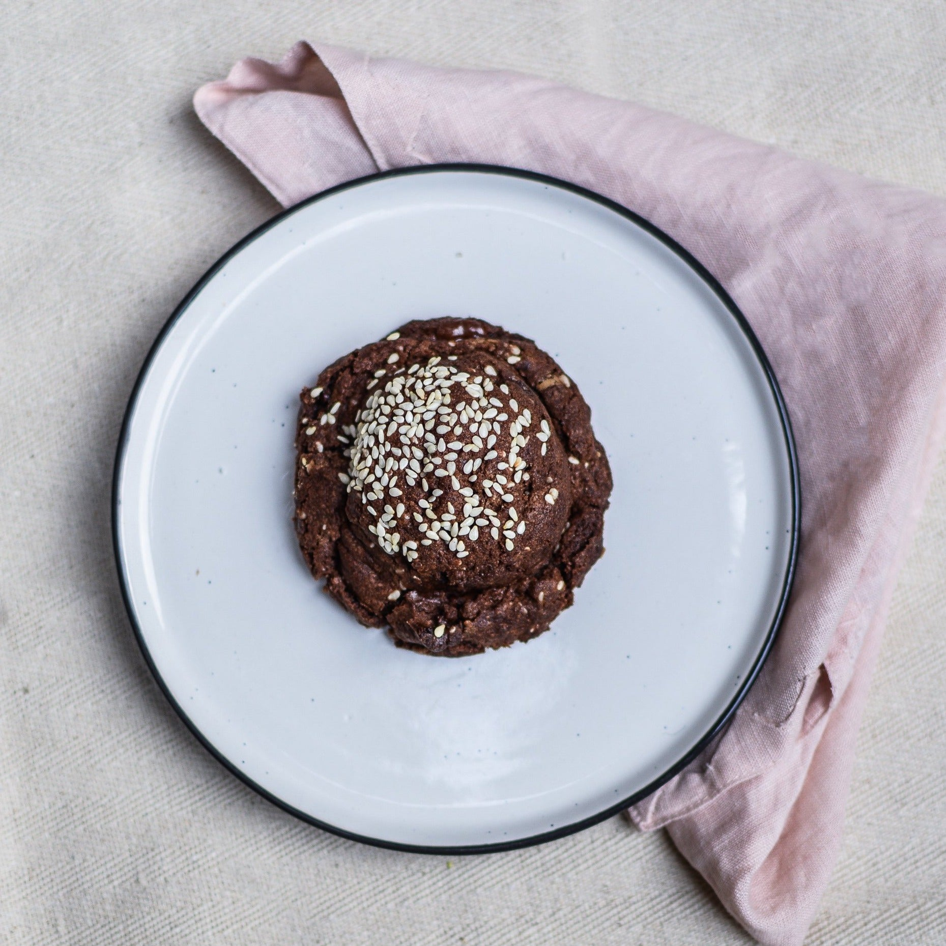 Chocolate Sesame Cookie Vegan