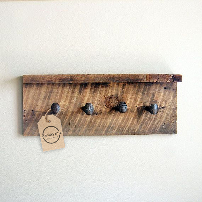 Reclaymd™ - Reclaimed wood coat rack