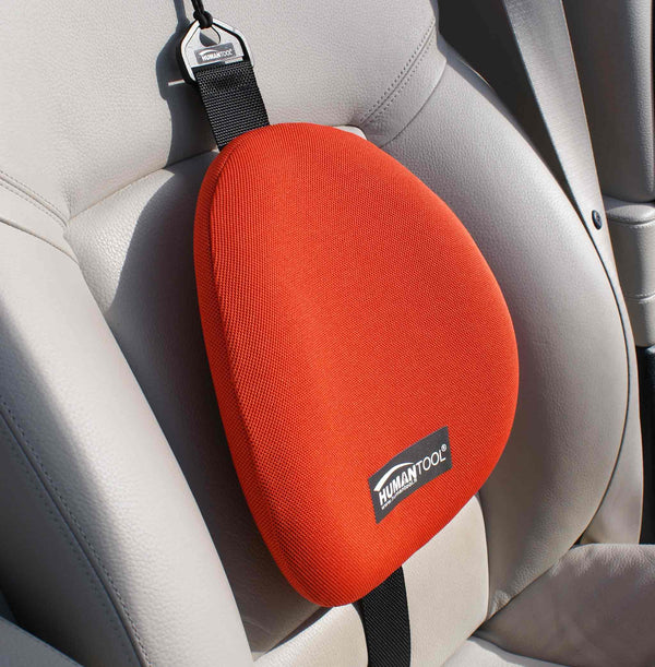 Lumbar support backrest for car