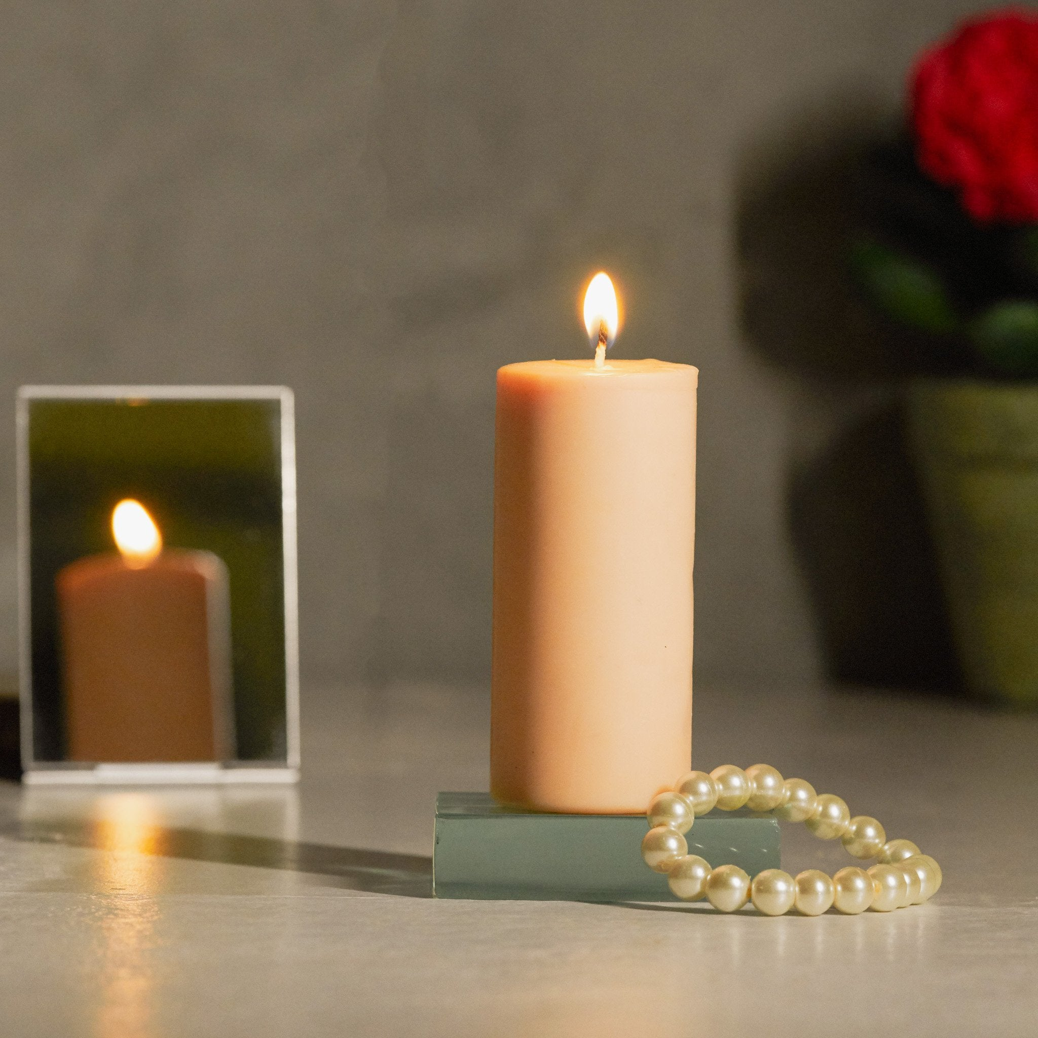 Infinity Gift Set of 6 Pillar Candles - Jasmine Scented - Rad Living