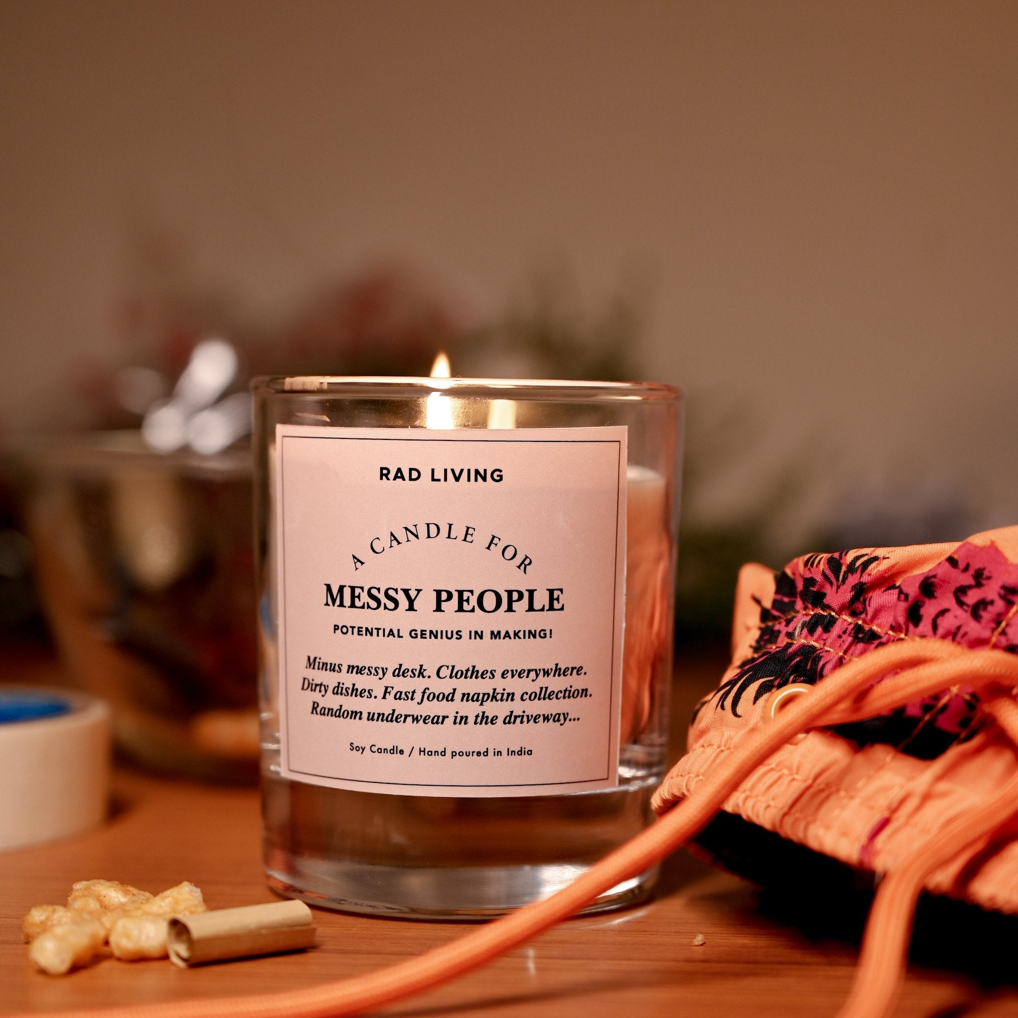 Motivational Scented Soy Candles for Messy People.