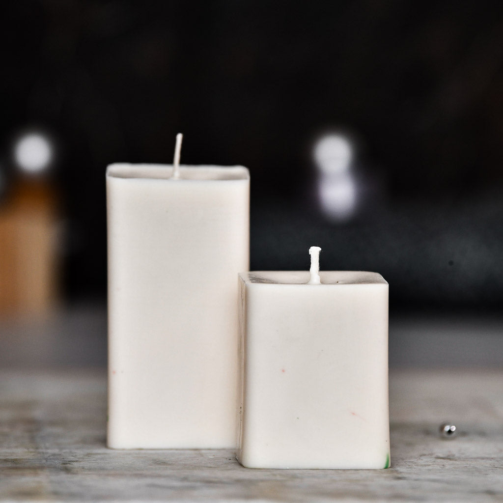Set of 2 Cinnamon Roll Scented Pillar Candles - Love & Kindness