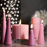 Timeless Gift Set of 1 Decorative Jar and 6 Pillar Candles - Rad Living