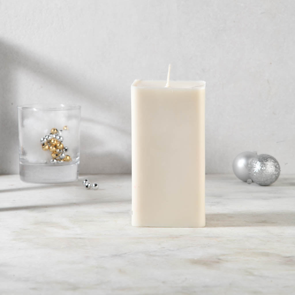 Set of 2 Bergamot & Vanilla Scented Pillar Candles - Love & Kindness