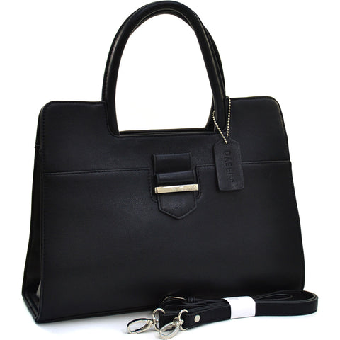Classic Designer Briefcase Tote w/ Adjustable Shoulder Strap
