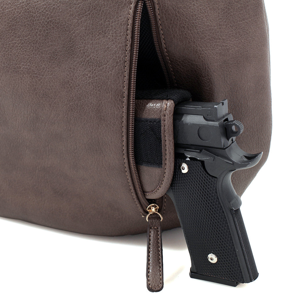 Concealed Carry Ambidextrous Designer Inspired Hobo Purse w/ Holster
