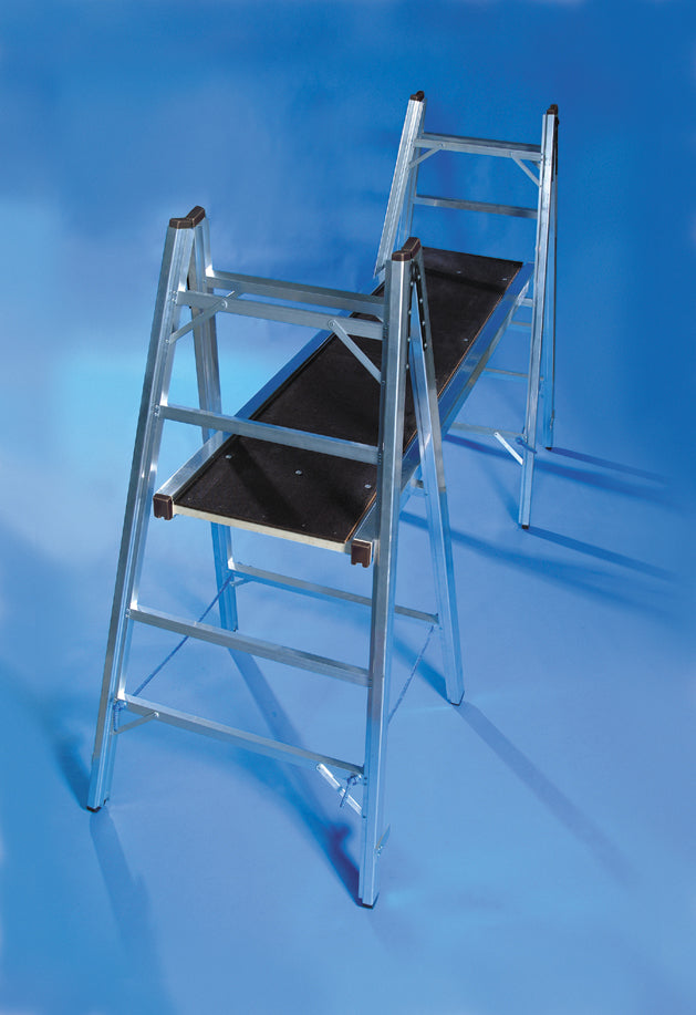 Lyte Class 1 Professional Aluminium Trestles 1.7m to 3.5m and Handrails
