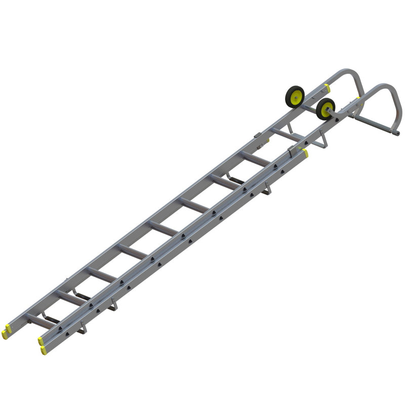 Youngman Aluminium Trade Roof Ladders - 3.2 to 8.3m Single and Double Section
