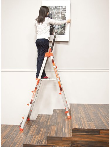 Little Giant Select Step Multi-Position Ladder. One Ladder - 5,6,7,8 Tread + Air Deck