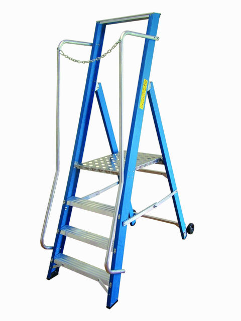 Lyte Glassfibre Work Platform Step Ladder  - 2 to 8 Step