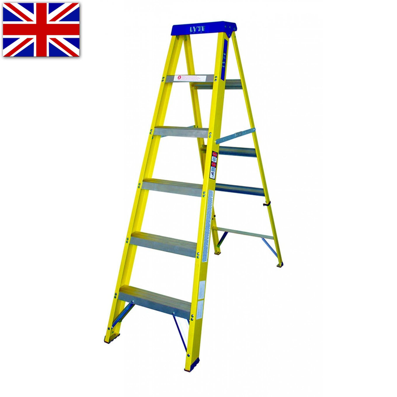 Lyte Glassfibre GRP Trade Swingback Stepladder - 1.1m to 2.8m