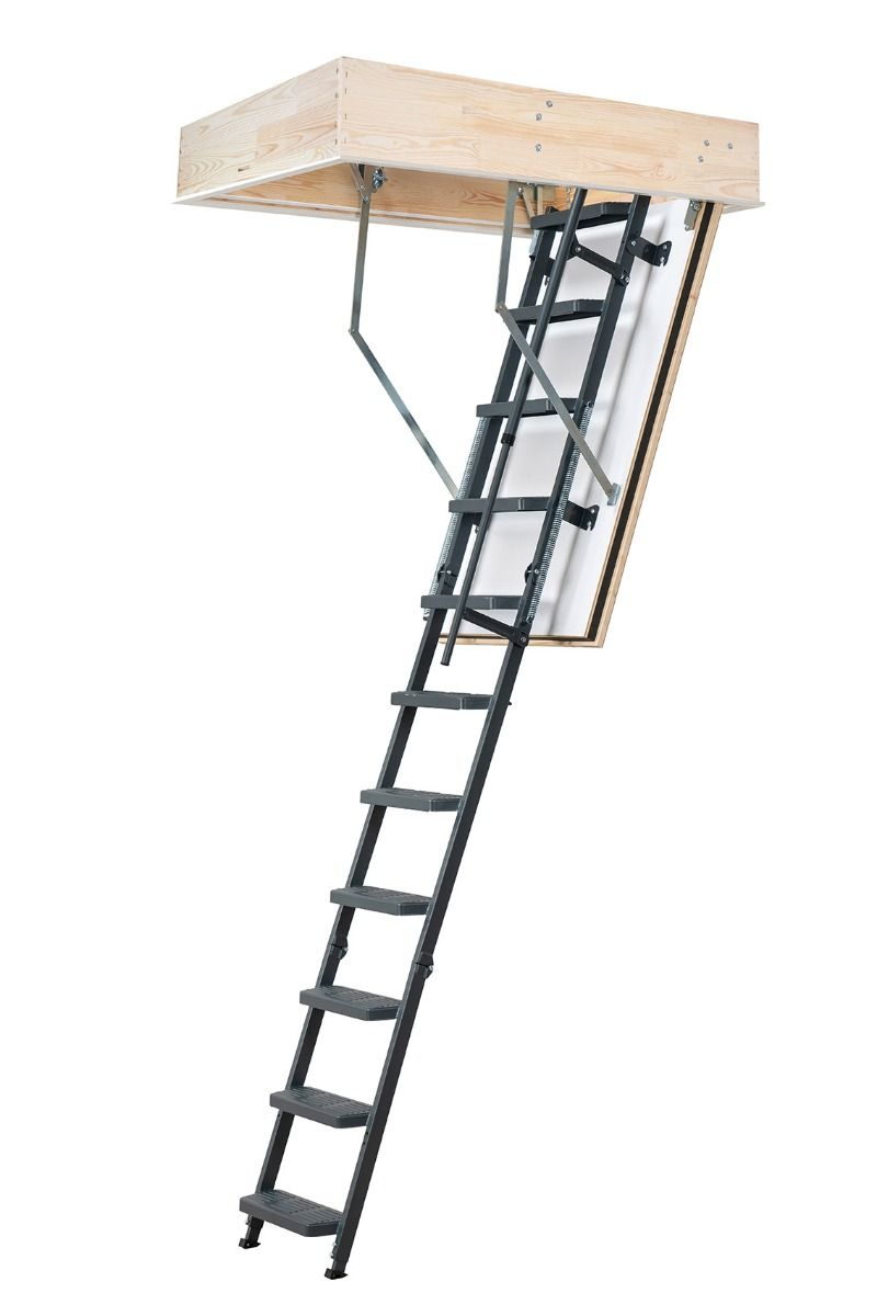 Fire Resistant Dolle Loft Ladder REI 45 Comfort - Anthracite Steel