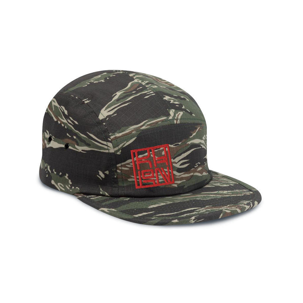Green Tiger Camo KHRON Brand 5-panel Cap