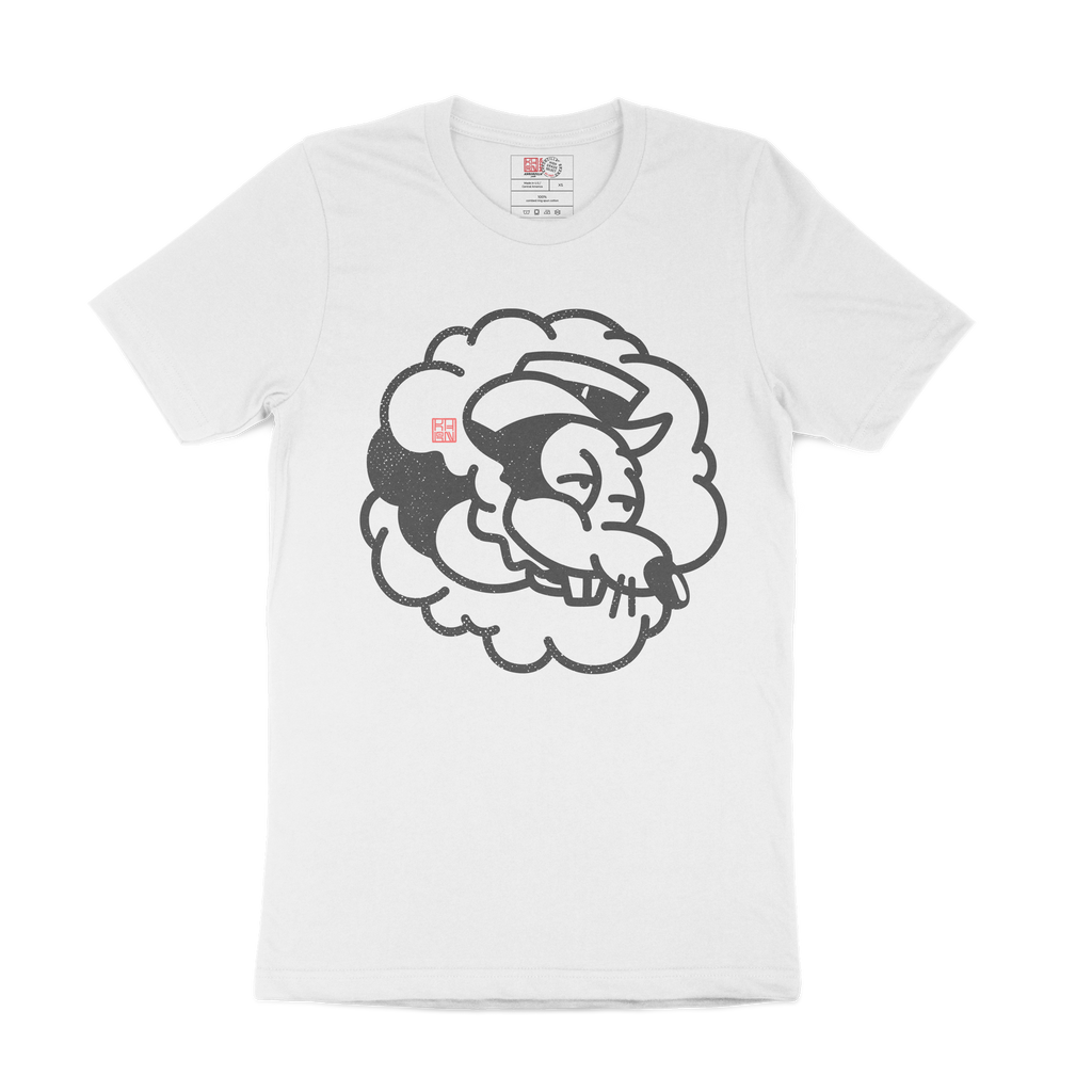 High Morty Mouse Monoline White Tee