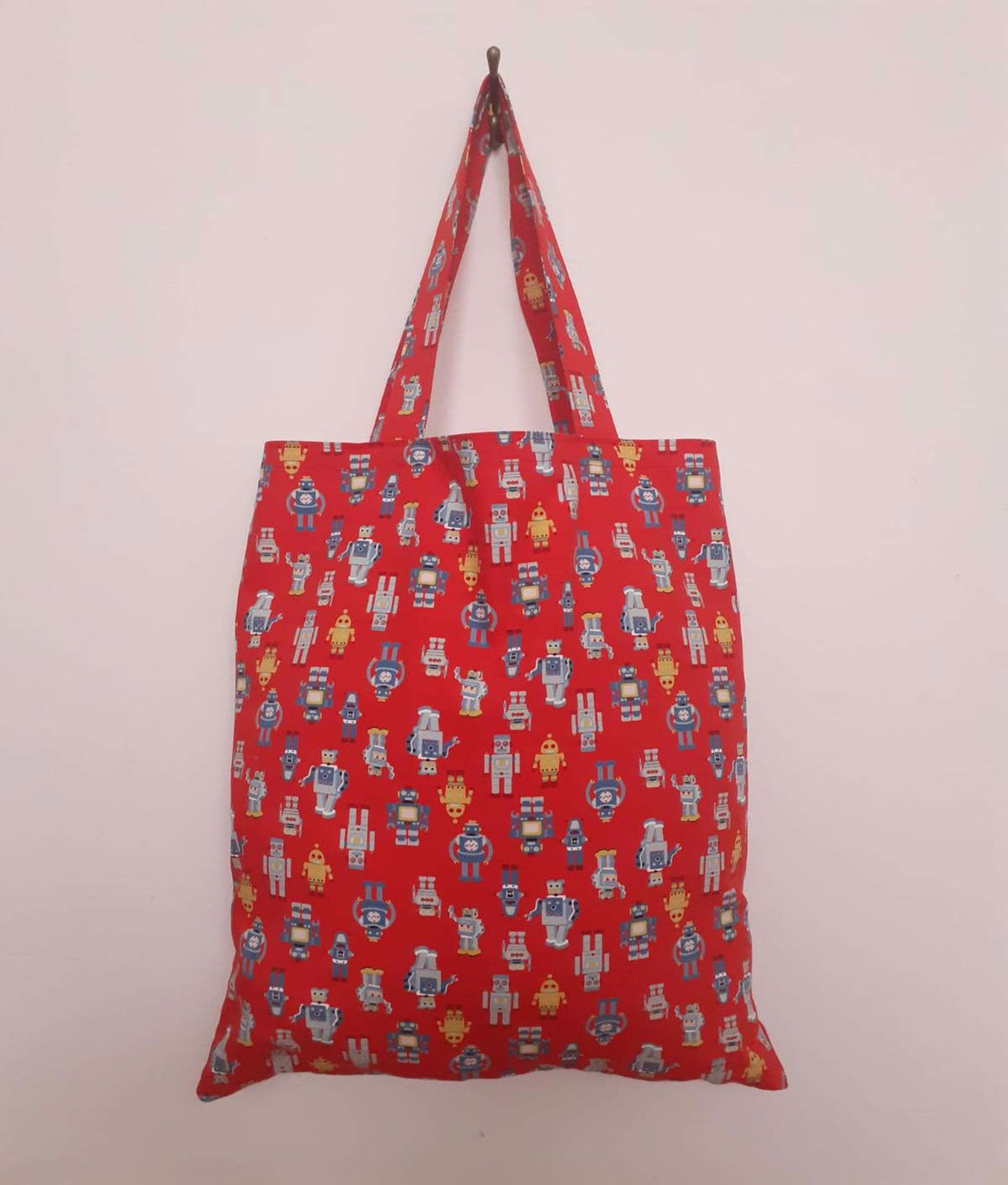 Robot Illustrations Tote Bag