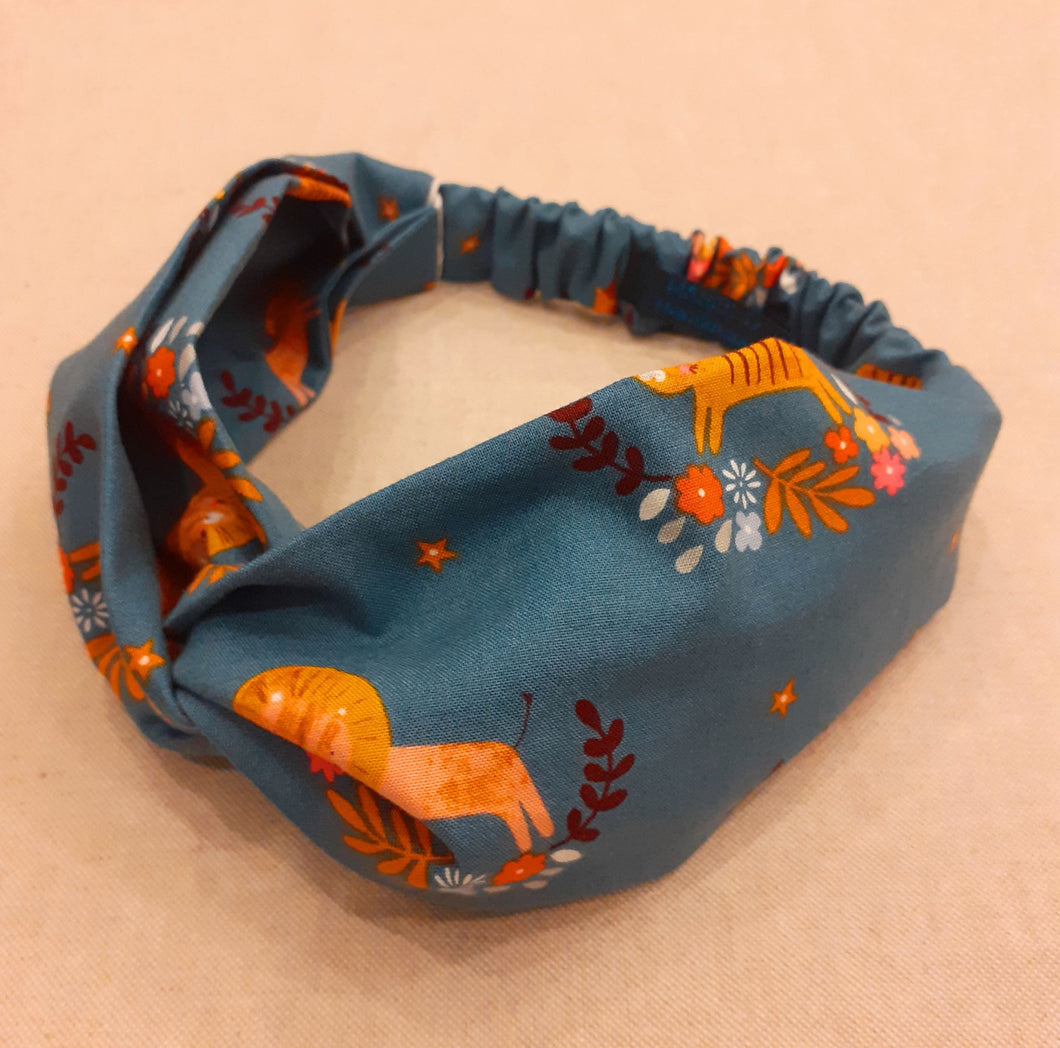 Tiger Illustrations Twisted Knot Turban Headband