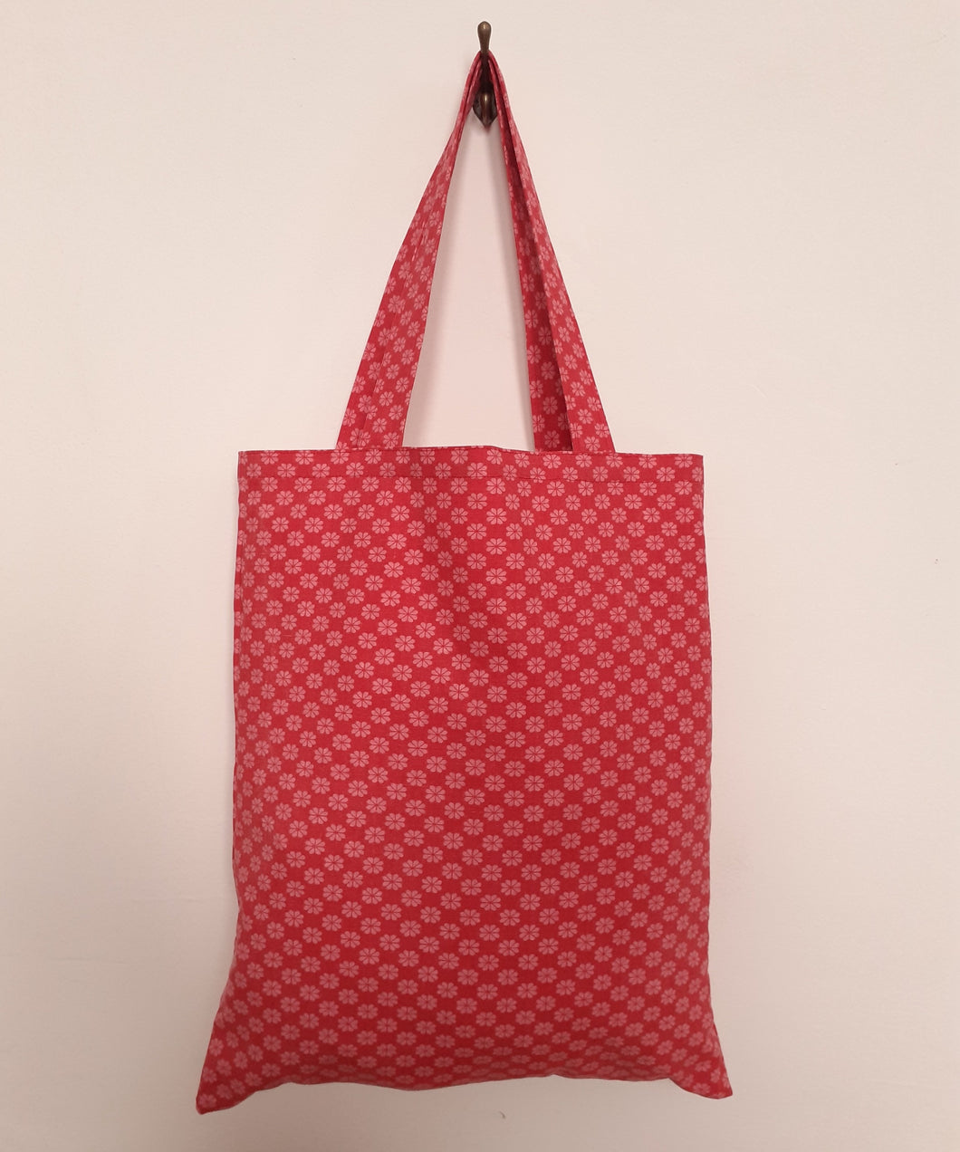 Red and Pink Spring Floral Tote Bag