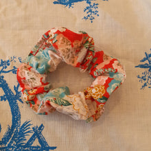Load image into Gallery viewer, Red Metallic Cotton Scrunchie