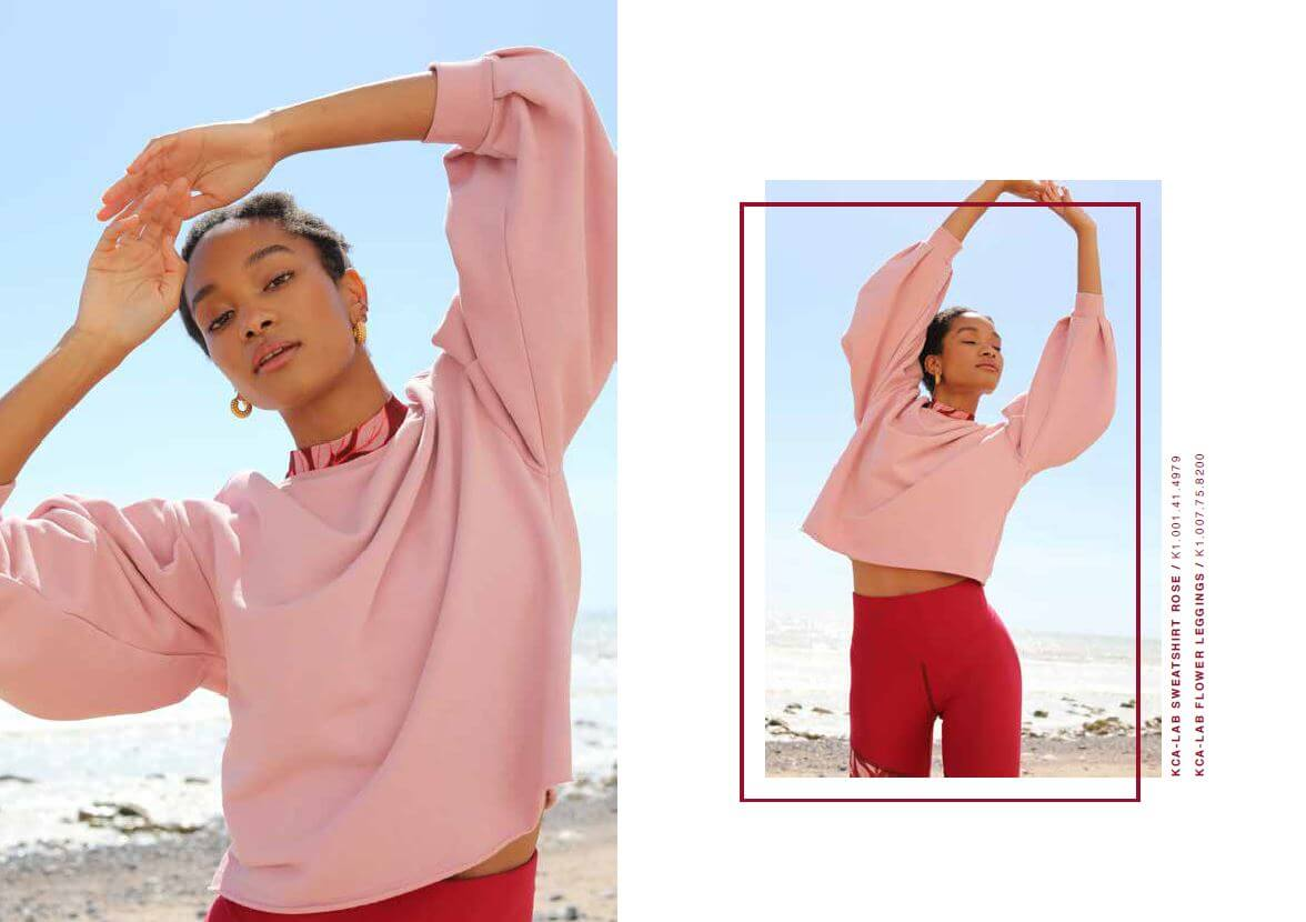 lookbook fall winter 2020 sweater rose cycling short red