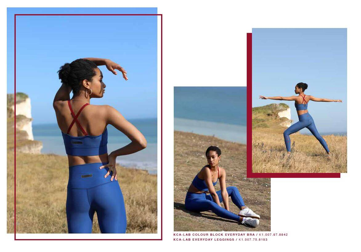 everyday set blau mit aloe vera finish leggings bra