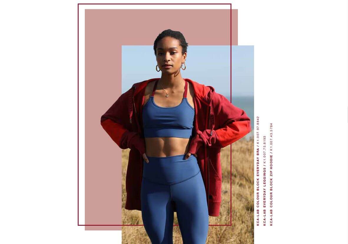 everyday set blau mit aloe vera finish leggings bra hoodie red