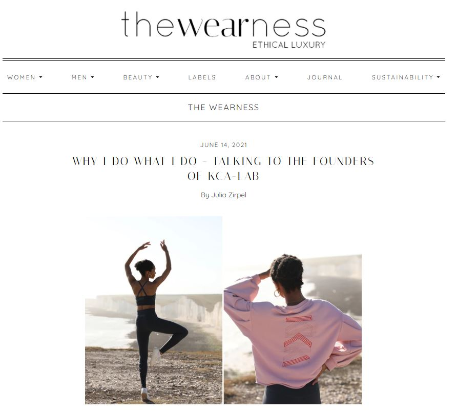 the wearness interview campaign images