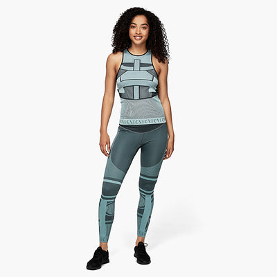 seamless leggings tank top mint model vorne