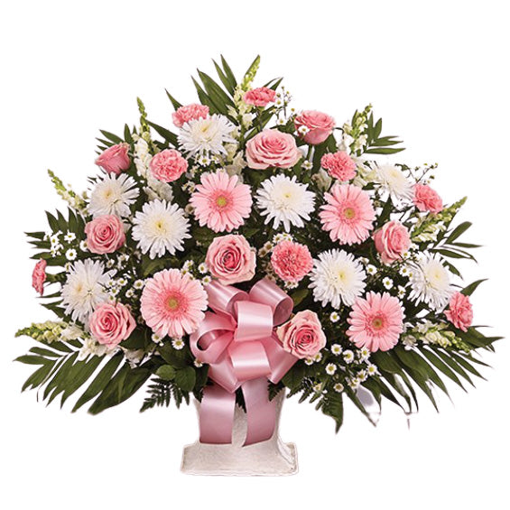 Pink and White Traditional Arrangement