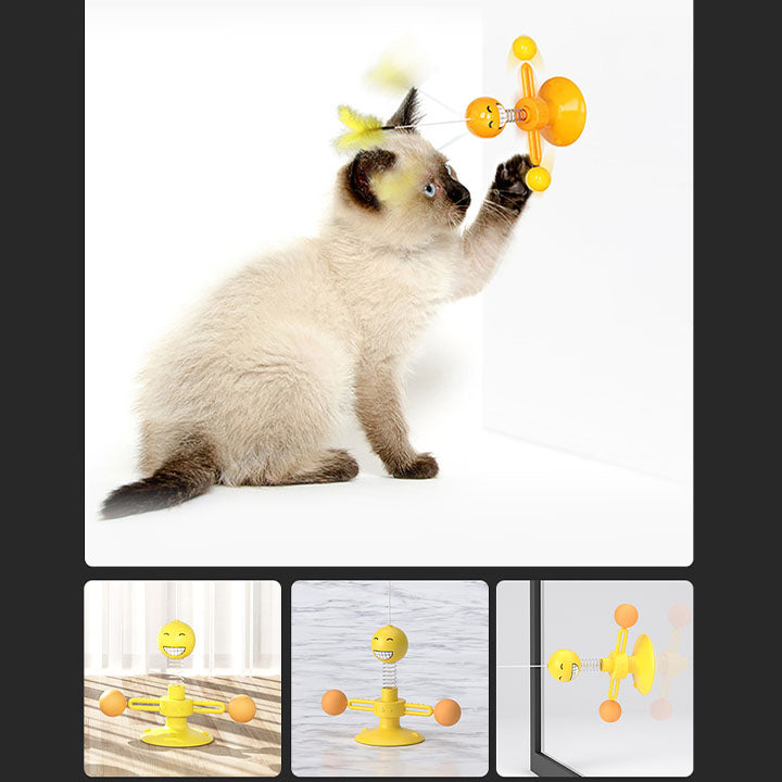 Cat toy spring ball